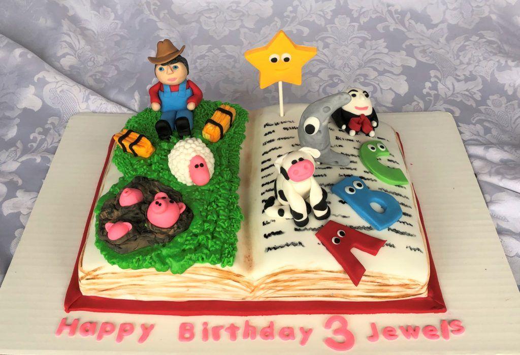 Nursery Rhyme Birthday Cake With Images Nursery Rhymes Fun