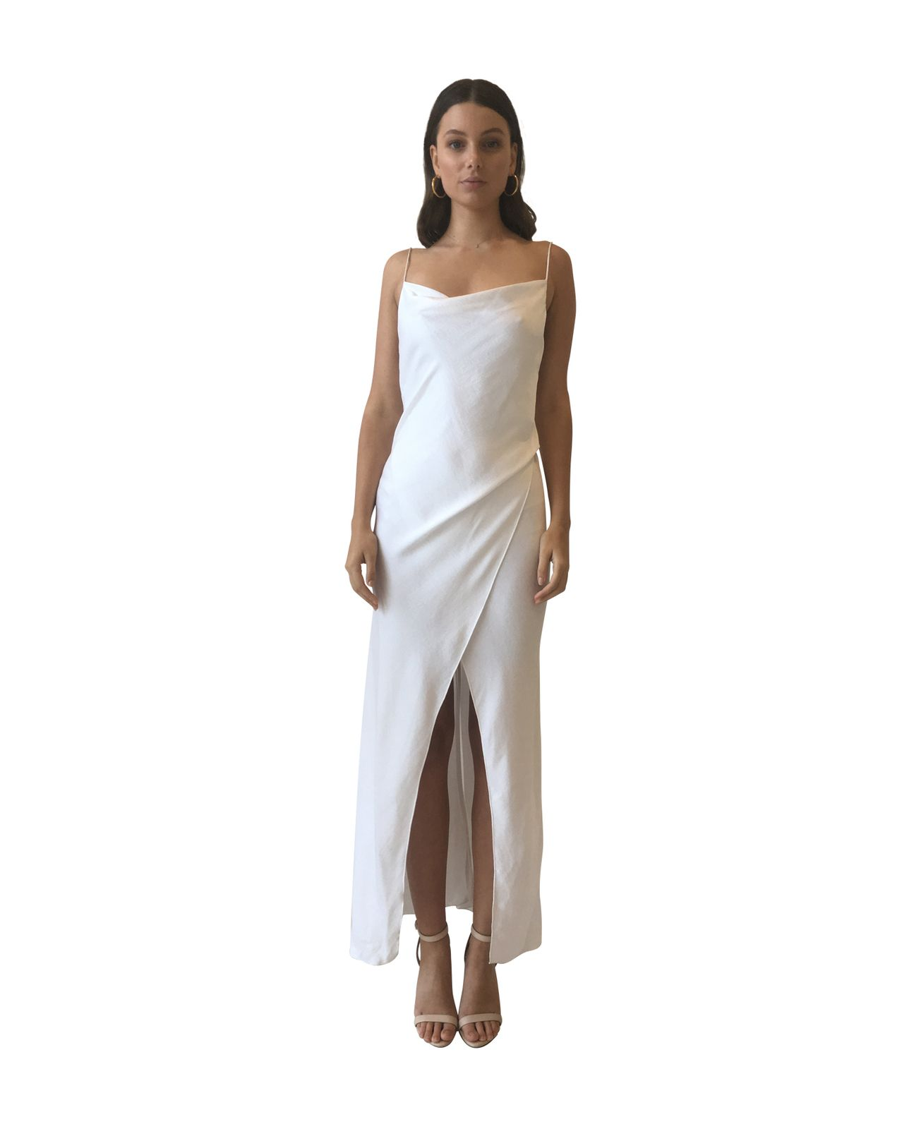 7b643fd1785 Camilla and Marc Bowery Slip Dress in Cold White - Camilla and Marc ...