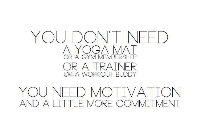 All you need is motivation and commitment.
