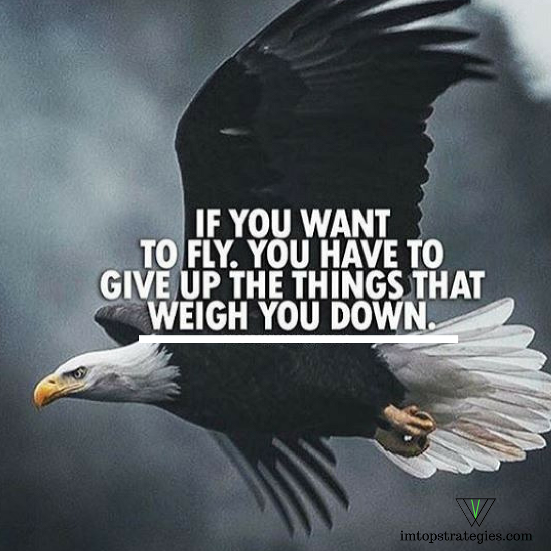 We Don T Want To Just Fly We Want To Soar And The Only Way To Do That Is To Get Rid Of The Things That Hold Us Motivation Inspiration The