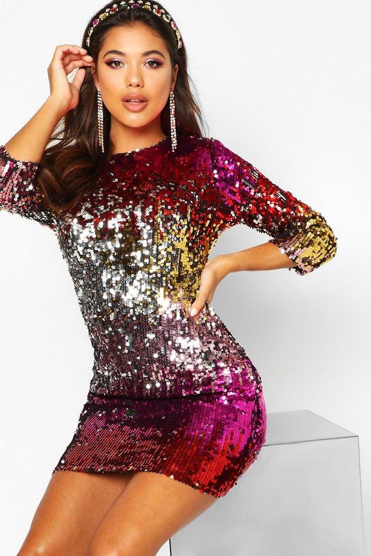 CFYH 2018 Sexy Elegant Club Party Embroidery Mini Dress