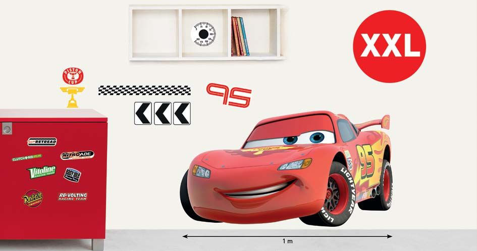 Sticker mural Cars voiture taille XXL | Chambre enfant Cars ...