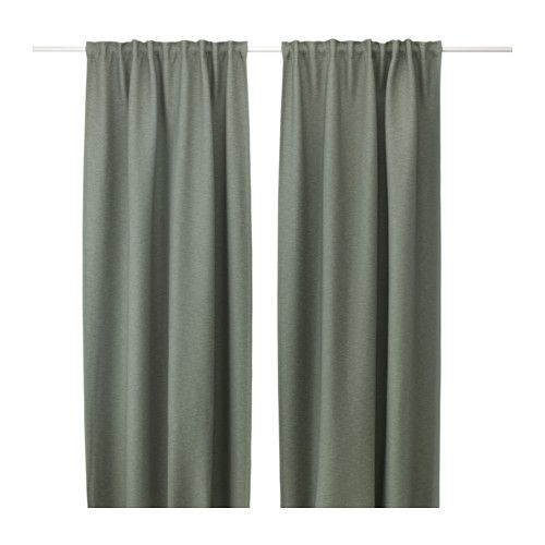 VILBCurtains, 1 pair, green | Room, Bedrooms and Master bedroom