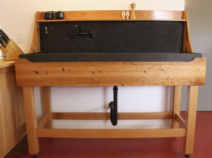 vintage farm sink stand - Kitchen Sink Stands
