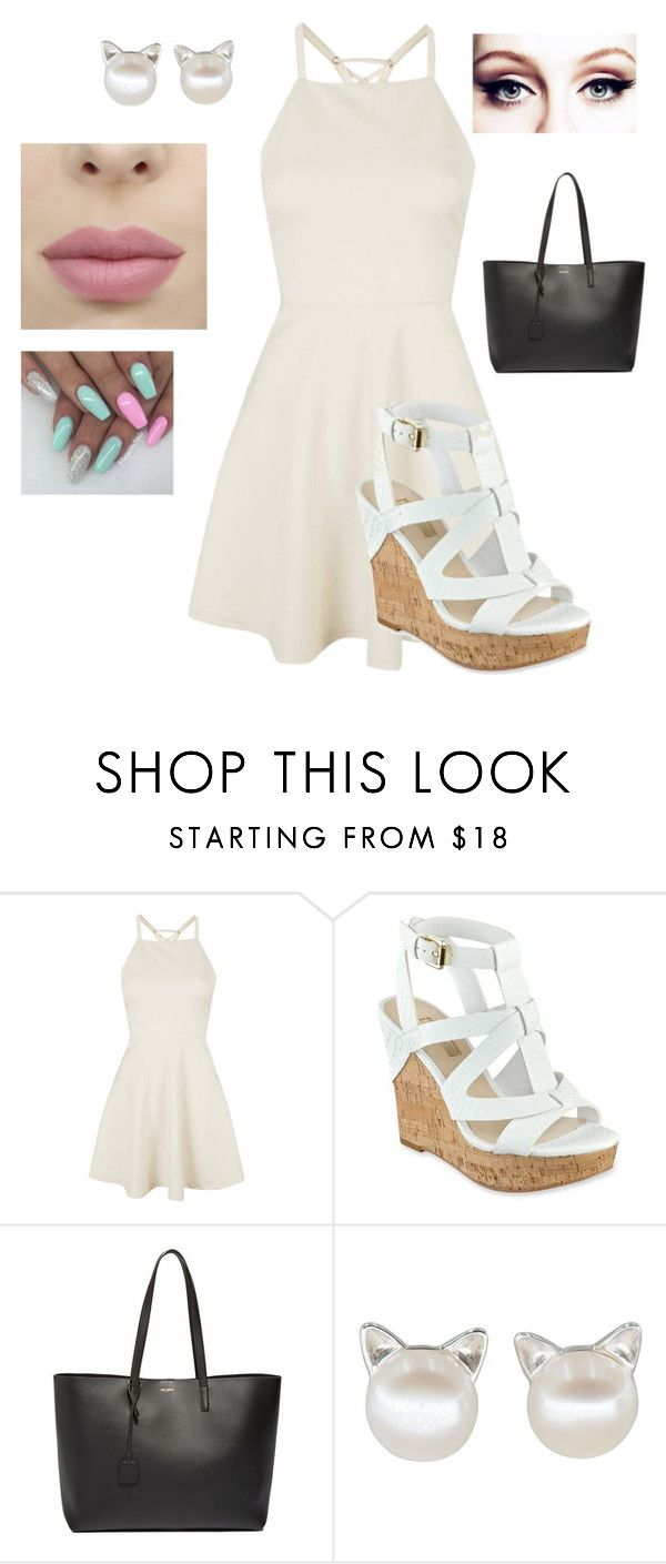 """""""Dressy Chic"""" by air-bear-disigns ❤ liked on Polyvore featuring Topshop, GUESS and Yves Saint Laurent"""