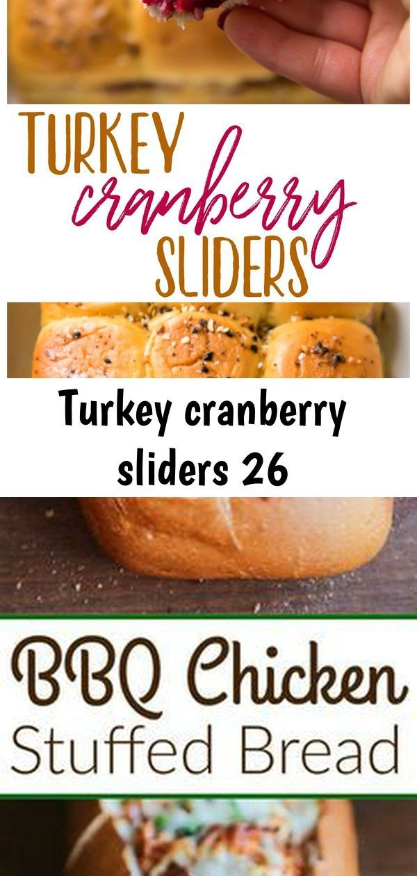 Turkey cranberry sliders 26 #breakfastslidershawaiianrolls Turkey Cranberry Sliders are a quick and easy recipe to use up that leftover turkey and cranberry sauce from the holidays! Hawaiian rolls are loaded with turkey, cranberry sauce and your favorite cheese for a tasty lunch or dinner after the big meal. #ad #FallForFresh BBQ Chicken Stuffed Bread - Crusty artisan bread filled with cheesy bbq chicken filling. A fun twist to traditional BBQ chicken pizza--perfect for game day appetizers or an #breakfastslidershawaiianrolls