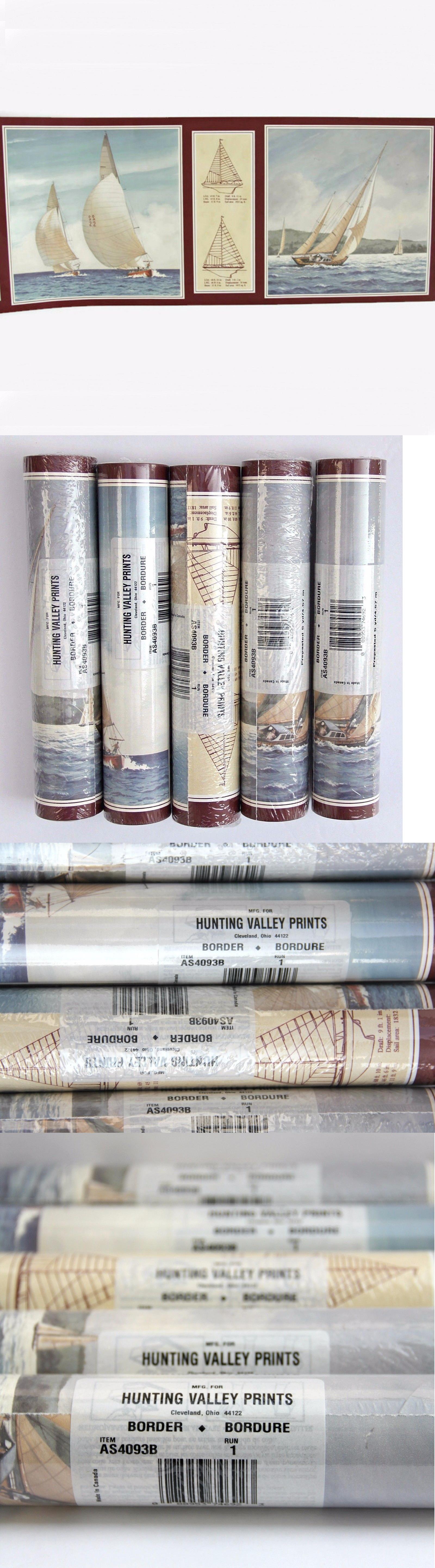 Wallpaper Borders 5 Rolls Hunting Valley Prints Sailboats