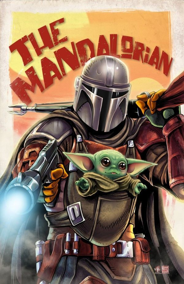 Marvel Comics. Comic Book Artwork • The Mandalorian by