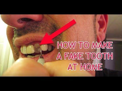 How To Make A Fake Tooth At Home Youtube Fake Teeth Teeth