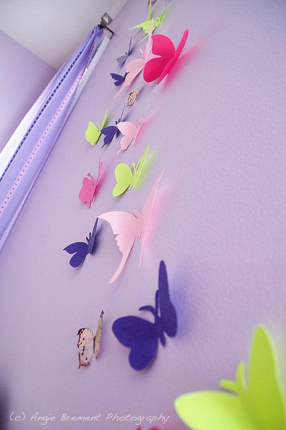Shabby Chic Girl Bedroom Ideas Butterflies Pink White Butterfly Baby Room Butterfly Room Decor Pink Bedroom For Girls