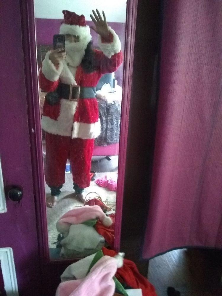 653090f1edb05 Mens Deluxe Regal Plush Santa Clause Costume Suit Father