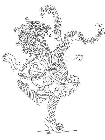 Fancy Nancy Curtseying Coloring Page Pages