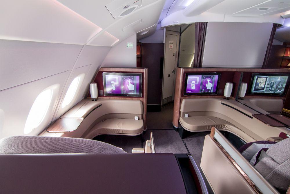 Review Qatar Airways First Class A380 Doha To Paris Sven Luckermans Aircraft Interiors Qatar Airways Private Jet