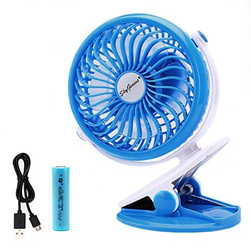 Battery Operated Clip Fan for Baby Stroller Car Back Seat Laptop Travel  Outdoors Camping ,Small Personal Fan Mini Desk Table Fan Portable Hand Held  Powered ...