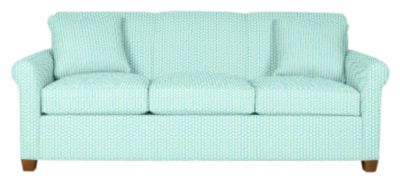 Monty Sleeper Sofa in Hotty Dotty: Porch | Maine Cottage #colorfulfurniture