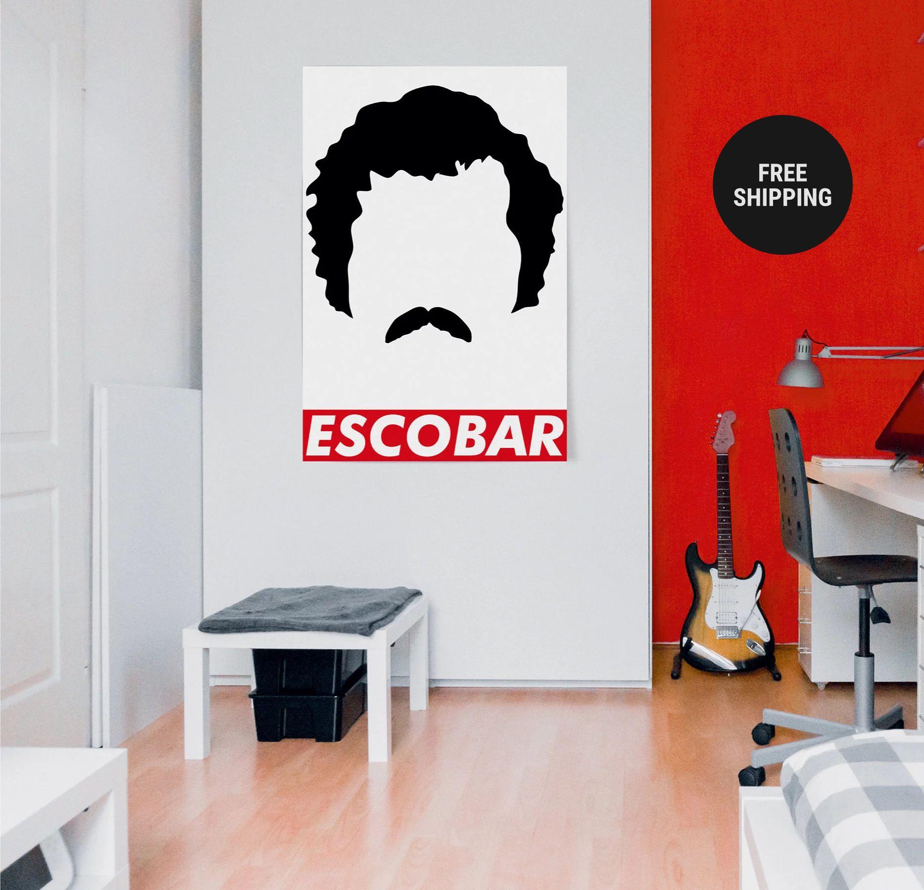 Narcos Movie Poster, Pablo Escobar, Film Poster, Political