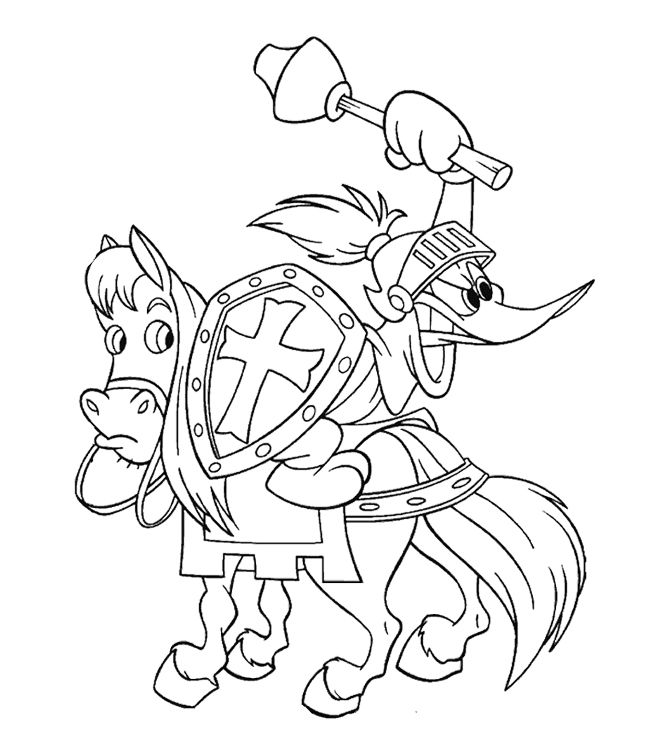 Woody Woodpecker A Soldier Coloring Page