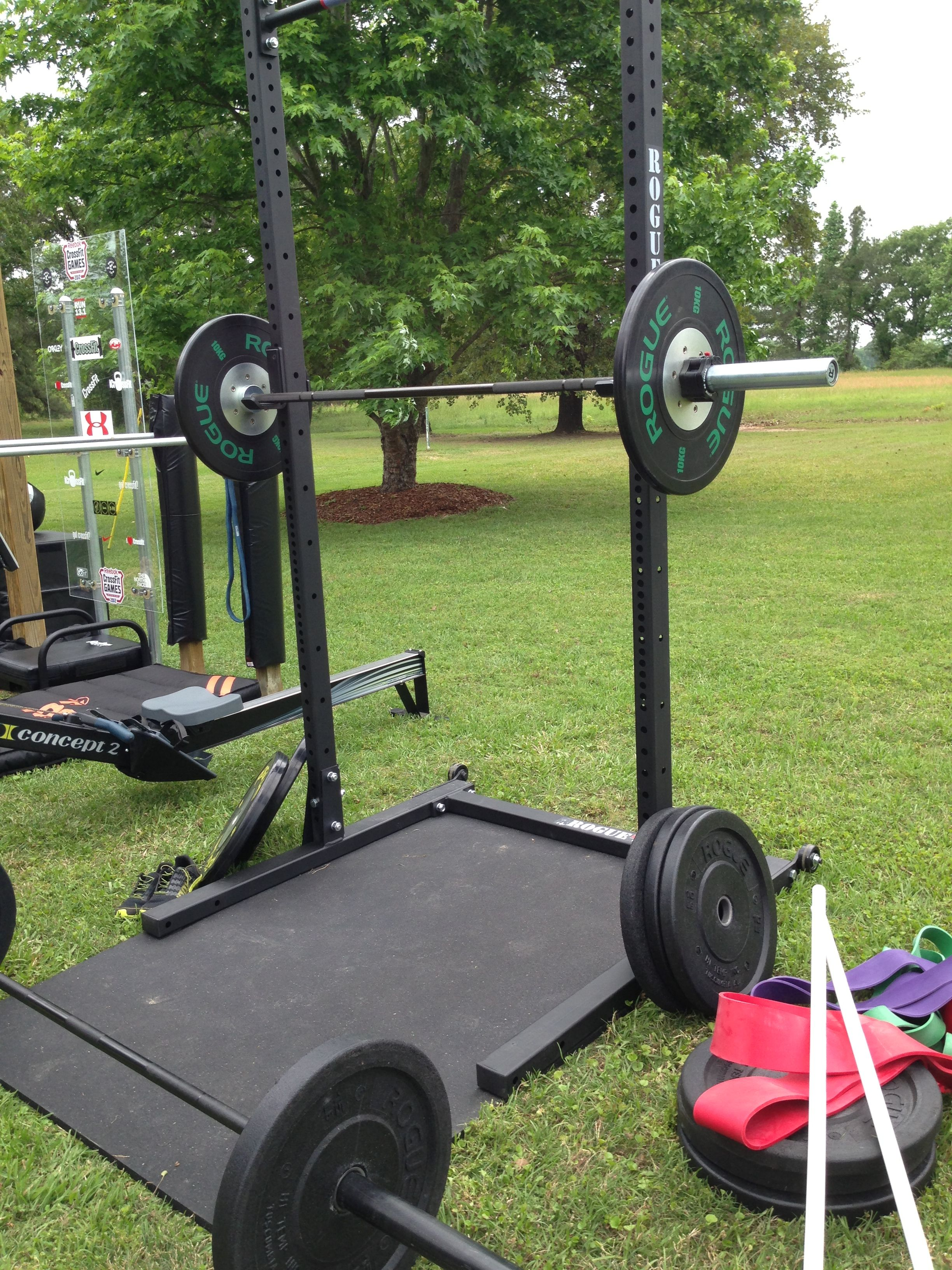 The rogue squat rack b22fit squats garage gym power rack
