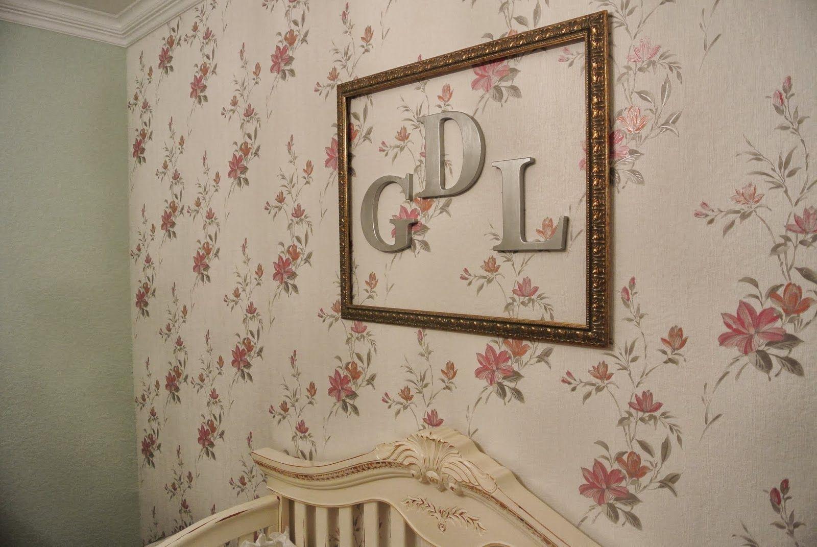 shabby chic floral wallpaper vintage baby girl nursery decor rh pinterest com