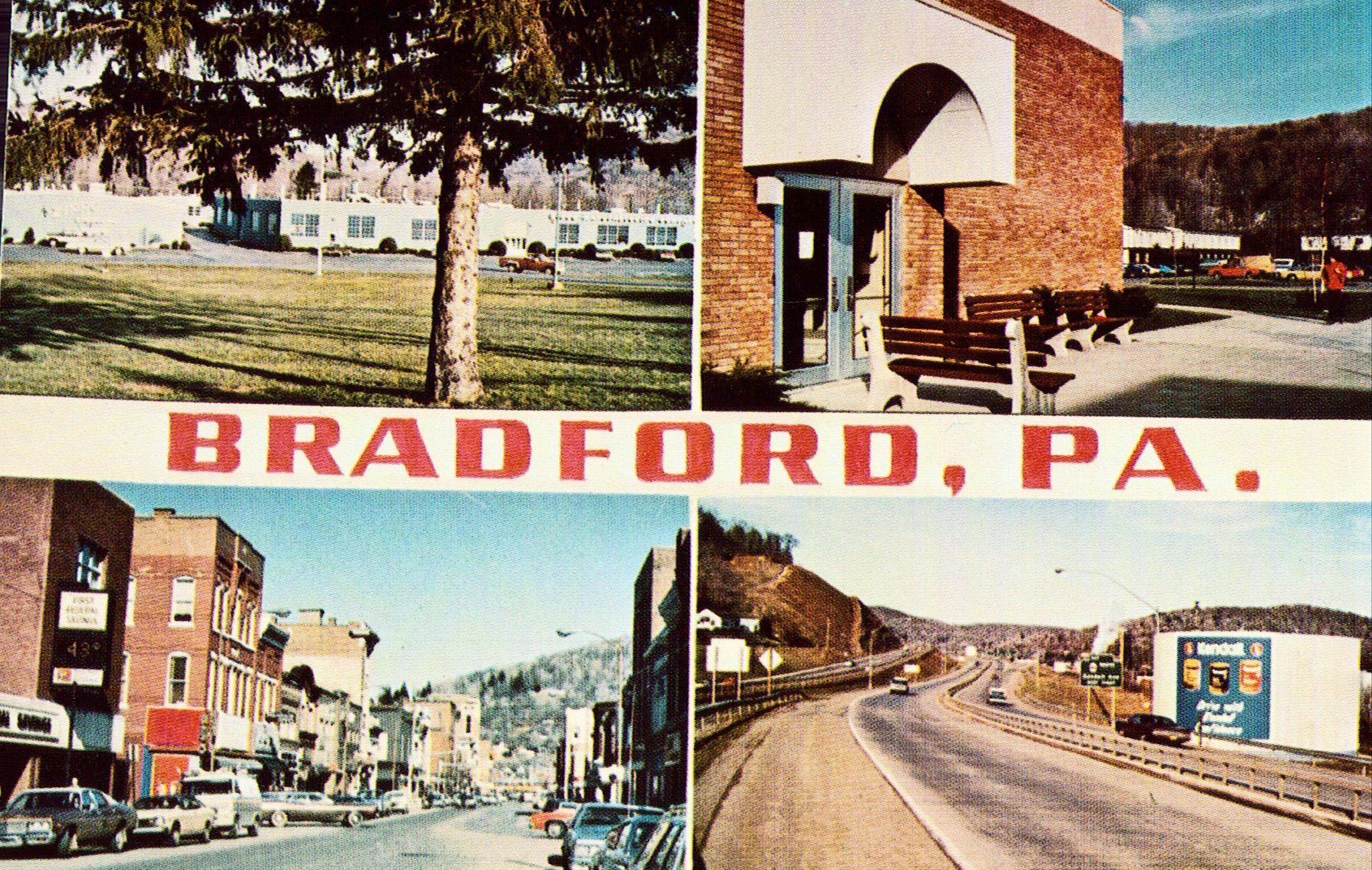 Multi View Postcard of BradfordPennsylvania Multi View