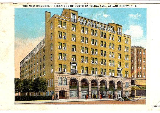 Iroquois Hotel At The Ocean End Of South Carolina Ave Atlantic City Www Acboardwalkrealty Com Atlantic City Hotels Atlantic City Iroquois Hotel