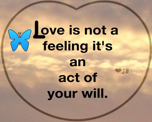 is love an action or a feeling