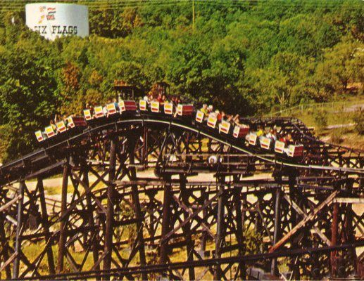 River King Mine Train, Six Flags Over Mid-America, 1971  My
