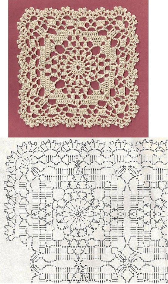 Crochet motif | Dolly Crochet | Pinterest | Colchas, Tejido y Ganchillo