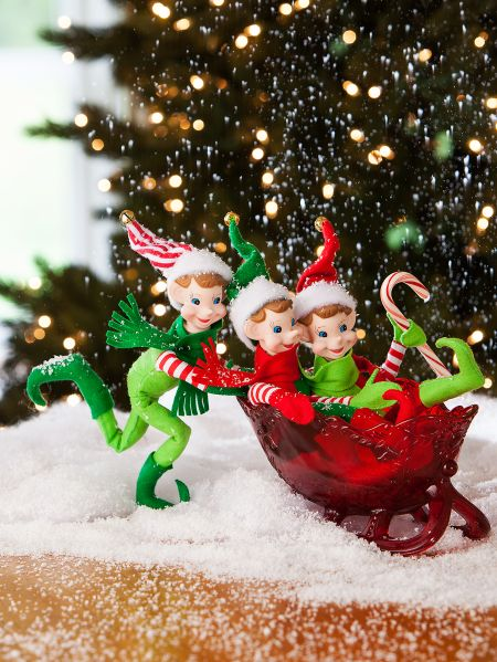 Pixie Elves Set Of 3 In 2020 Elf Christmas Decorations Christmas Tree Decorations Outdoor Christmas Tree Decorations