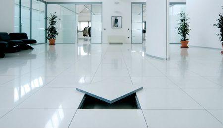 Tecnika Terrazzo Floor Tiles use a Runner System for
