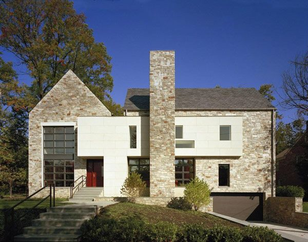 modern edgemoor residence adapted to a traditional neighborhood rh pinterest com