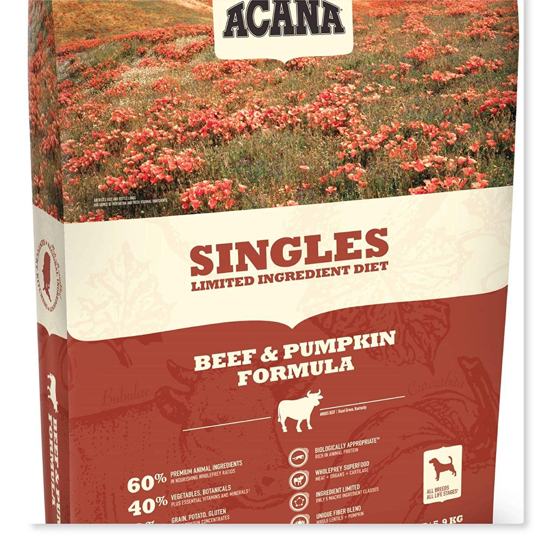 Buyitnow Acana Beef Pumpkin Dry Dog Food 13 Lb Bag With Fresh