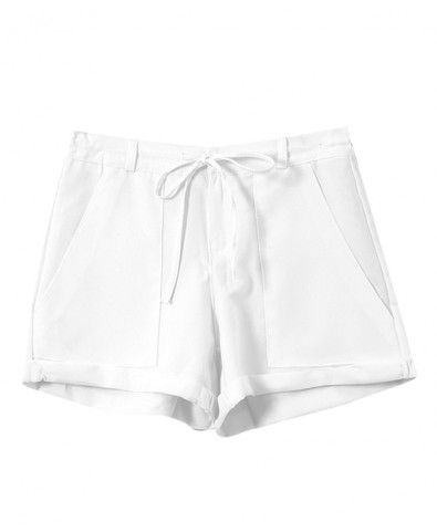 Lace-up High Waist Loose Fit Shorts - Clothing