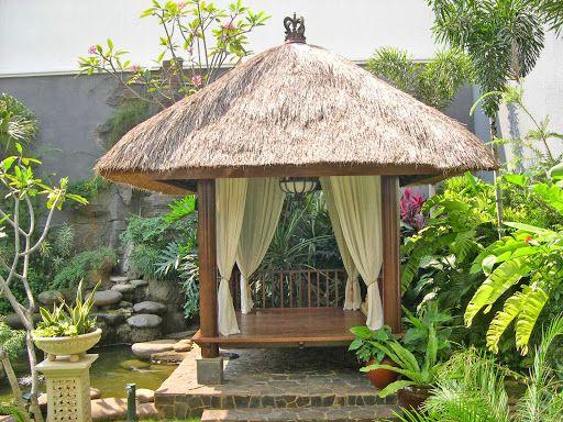 Rectangle gazebo plans oriental bali style floating gazebo for Balinese garden design