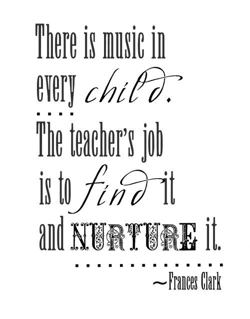 Love this quote! Special thanks to my ~band mom~ for