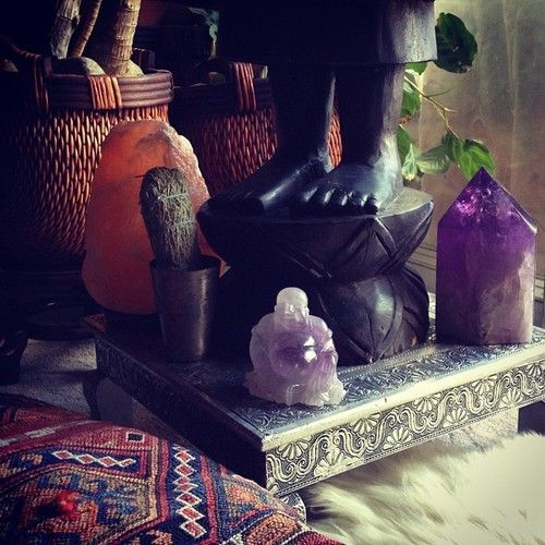 Village Originals Salt Lamps : #buddha #amethyst #amethyst point #crystal #himalayan salt lamp #vignette #bohemian ...