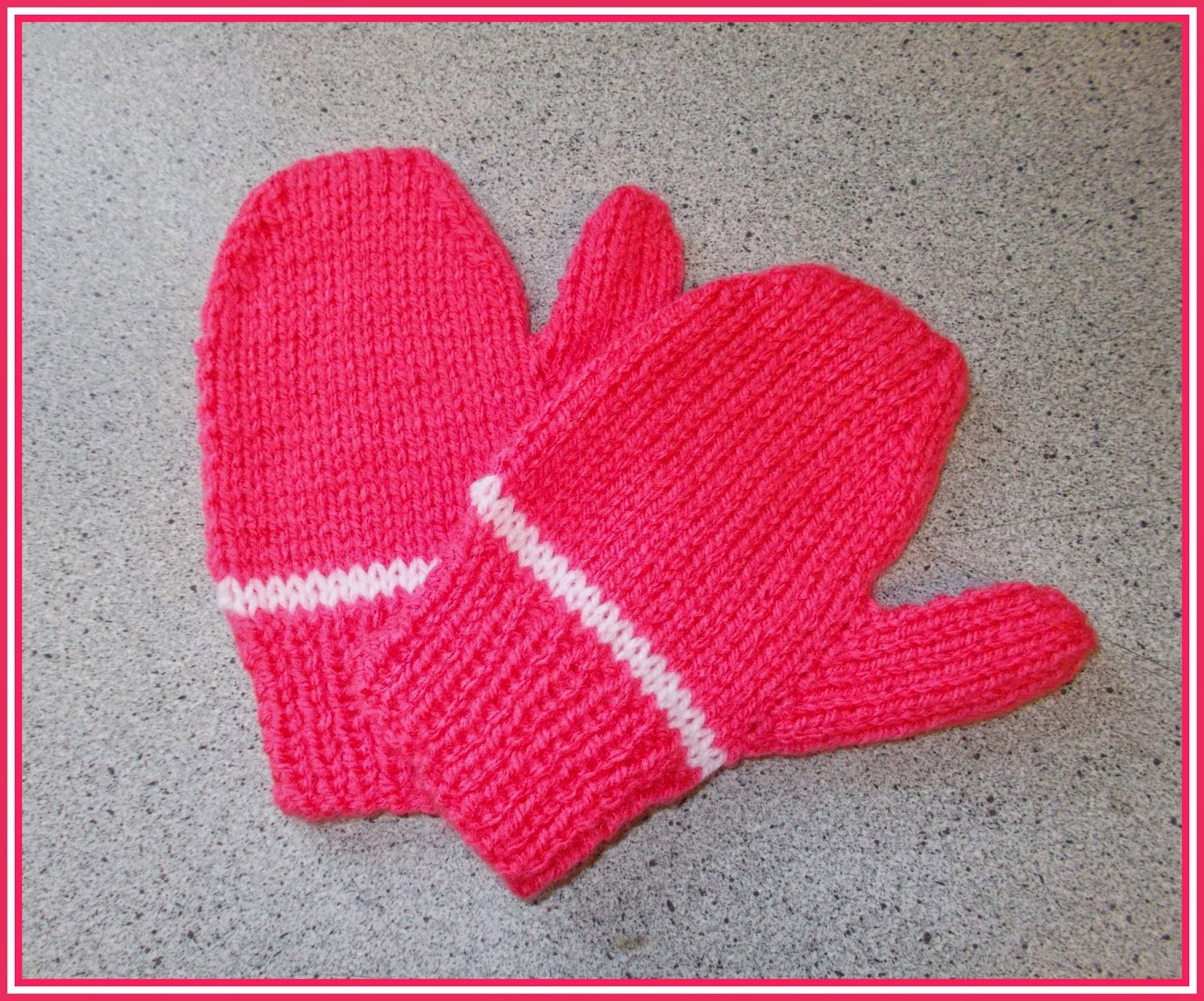 marianna\'s lazy daisy days: Easy 2-needle toddler and child mittens ...
