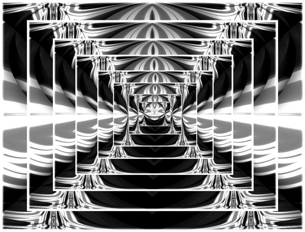 Black And White Abstract Art | Black & White Tunnel Abstract ...