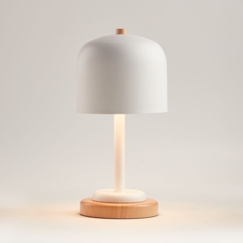 White Modern Dome Touch Table Lamp Reviews Crate And Barrel In 2020 Touch Table Lamps Table Lamp Touch Table