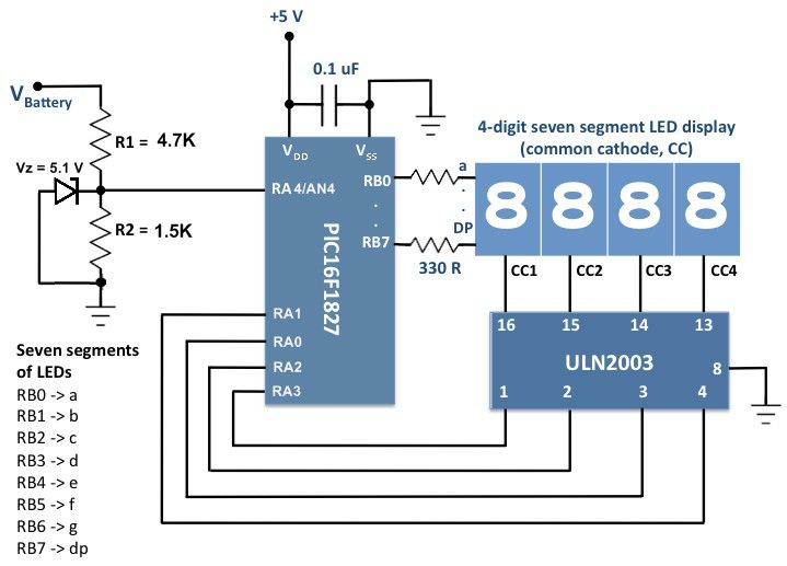 Car # Batteryvoltagemonitoring device Circuit ...