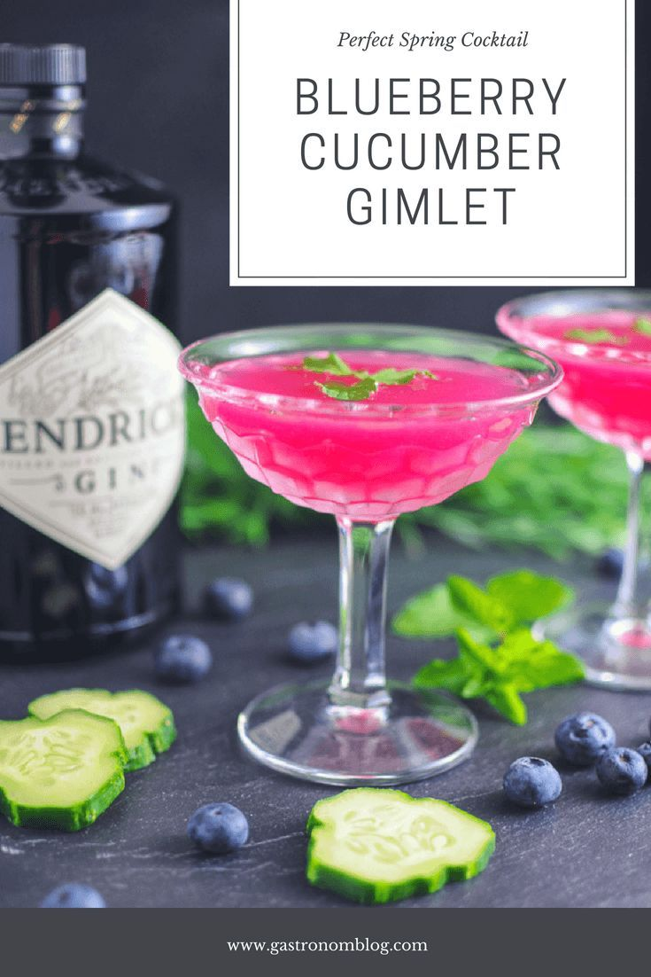 Photo of Blueberry Cucumber Gimlet recipe – gin, cucumbers, blueberries, lime juice and s…
