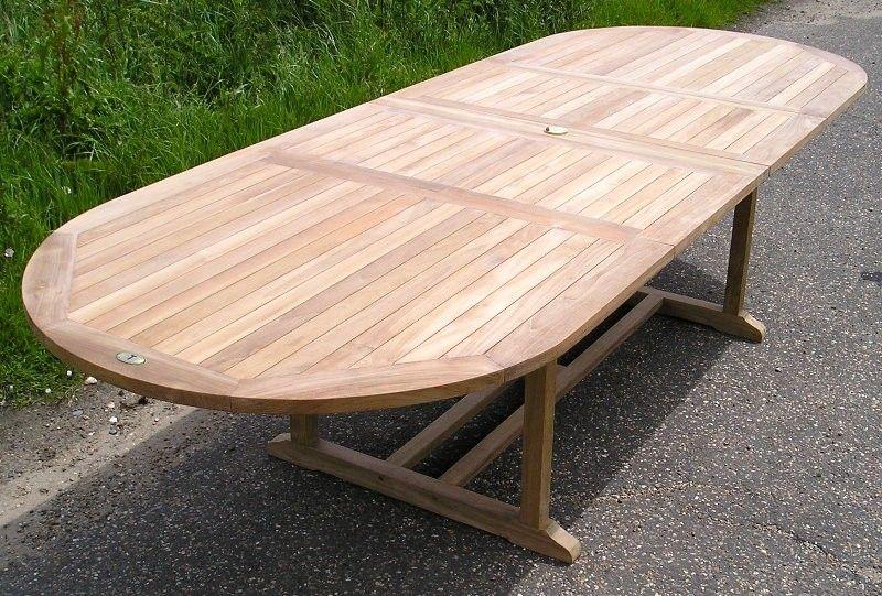 oval extending double leaf teak table 200 300 x 120cm teak garden rh pinterest ca