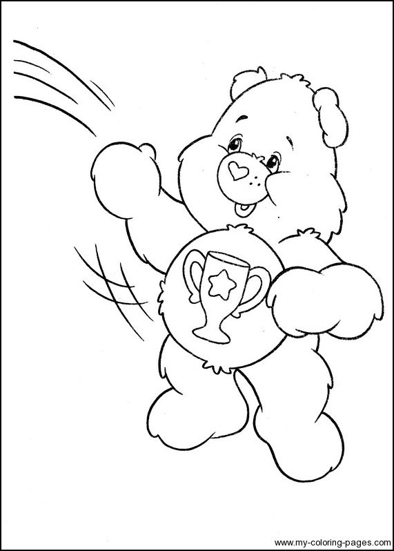 Care Bears Coloring 094 Bear Coloring Pages Cartoon Coloring
