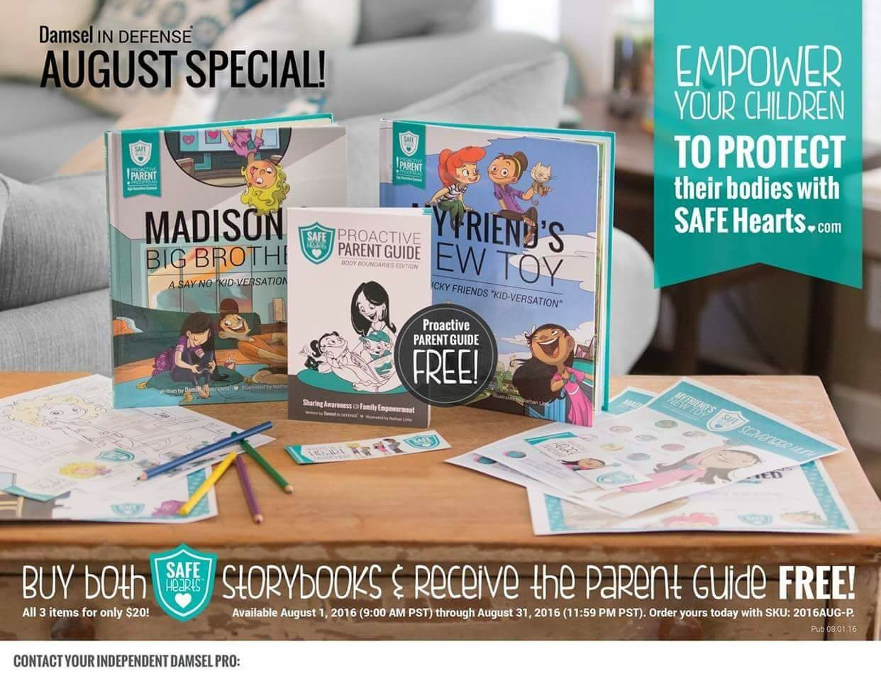 SAFE Hearts our new education based product line for