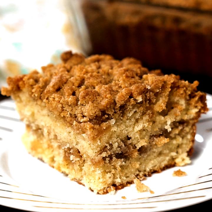 Cinnamon Sour Cream Coffee Cake in 2020 Coffee cake