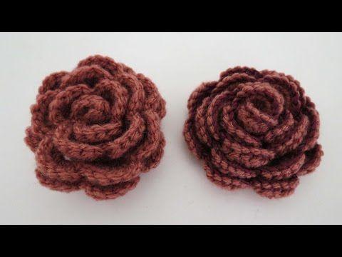 Rose häkeln * Anleitung * Crochet Rose [eng sub] | Youtube, Blumen ...