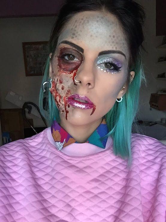 20 Mermaid Halloween Makeup You\'ll Love | Mermaid halloween makeup ...