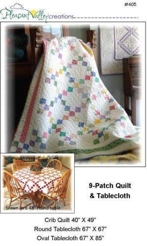 9 Patch Baby Quilt Tablecloth Pattern Fast Easy | eBay