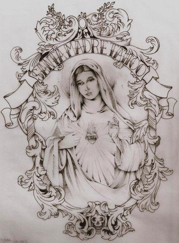 Santa Tattoo Madre Arte Desenhos Tatuagem