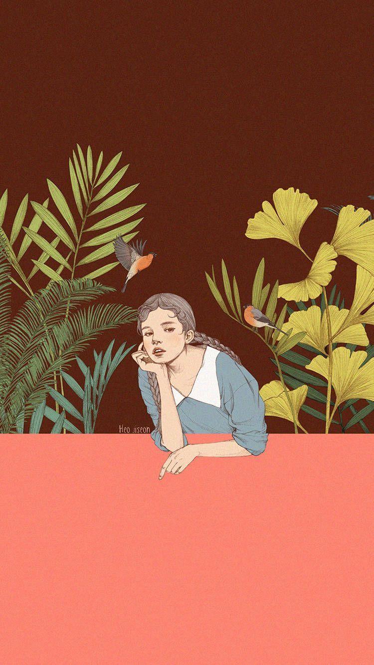 By Heo Jiseon Girl Illustrations Illustration Girl